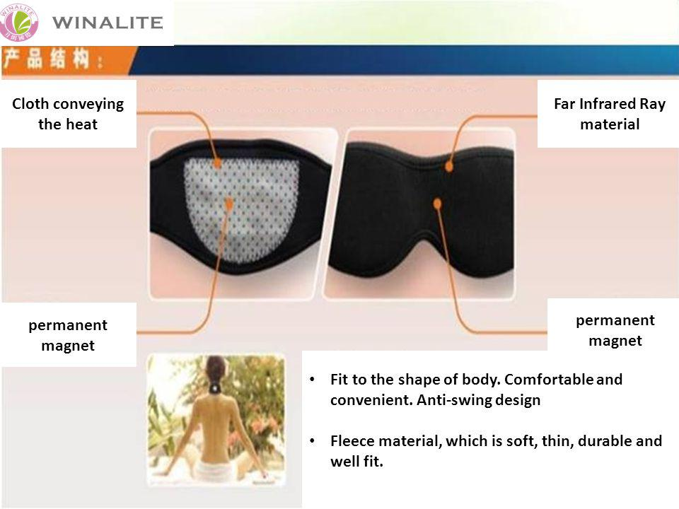 permanent magnet Cloth conveying the heat Far Infrared Ray material permanent magnet Fit to the shape of body.