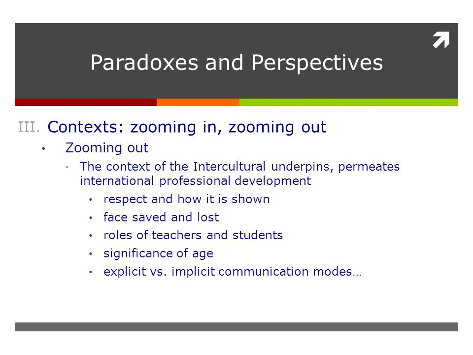  Paradoxes and Perspectives III.