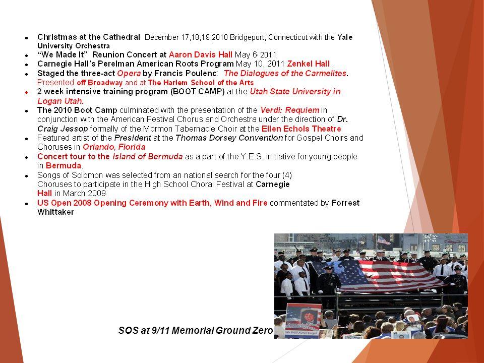 SOS at 9/11 Memorial Ground Zero