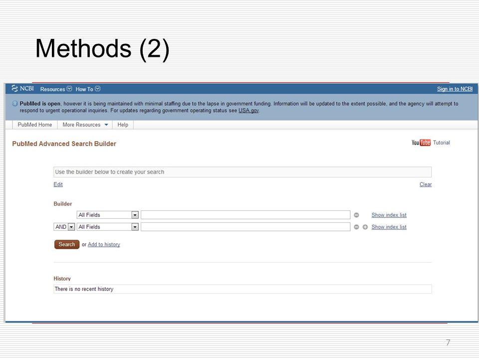 Methods (2) 7