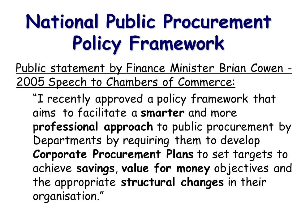 Procurement Skills & Knowledge Are Managers and staff up to date on procurement legislation.