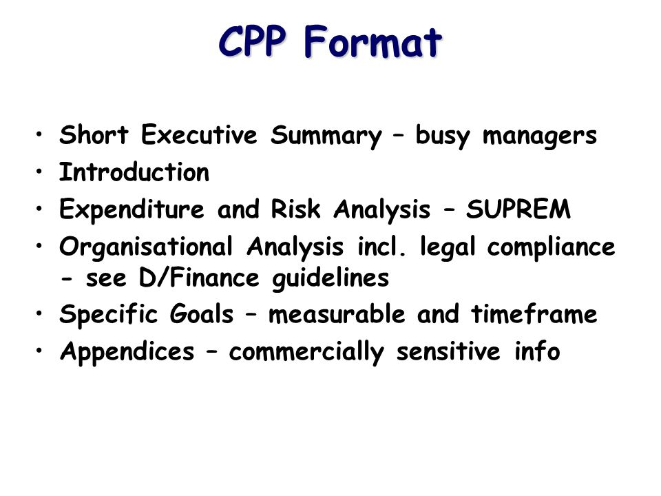 S UPREM Workshop Break into Groups Assign Risk Weightings to 10 Categories Input Risk and Expenditure Data into SUPREM Generate Report & Chart Revise Inputs as necessary Re-generate Report & Chart Discuss Findings & Risk Rationale (after break)
