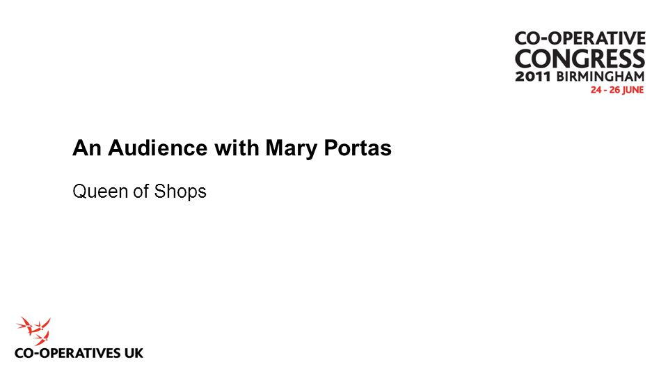 An Audience with Mary Portas Queen of Shops