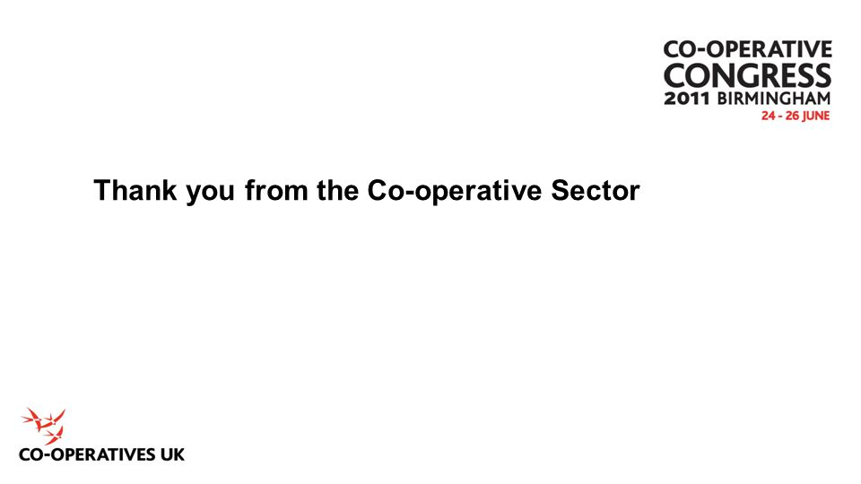 Thank you from the Co-operative Sector