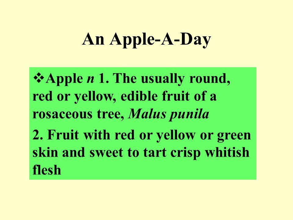 An Apple-A-Day  Apple n 1.