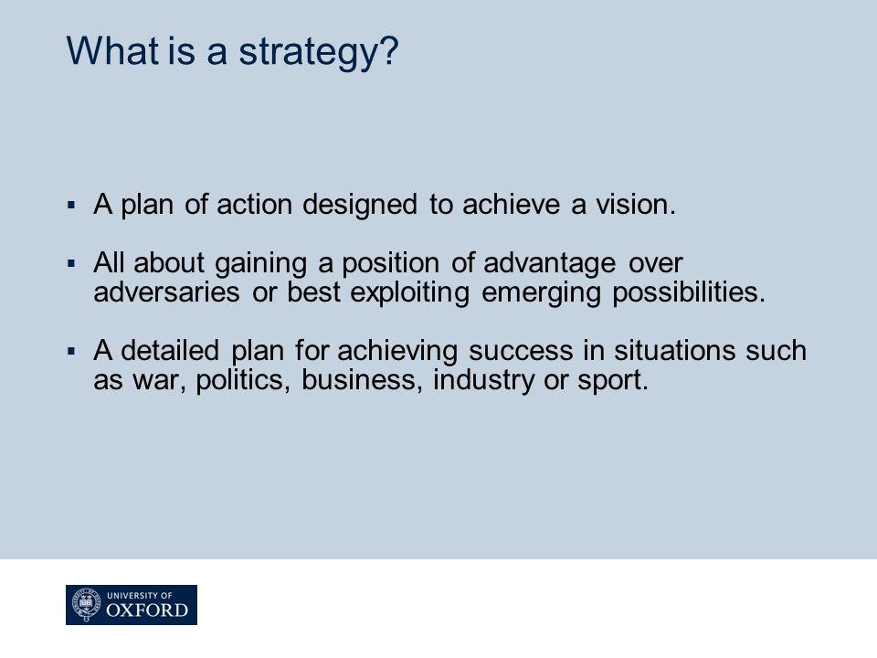  Organisation's strategy