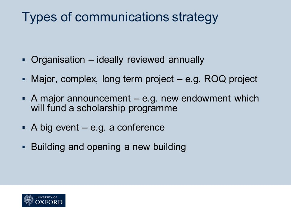 What is a communications strategy.
