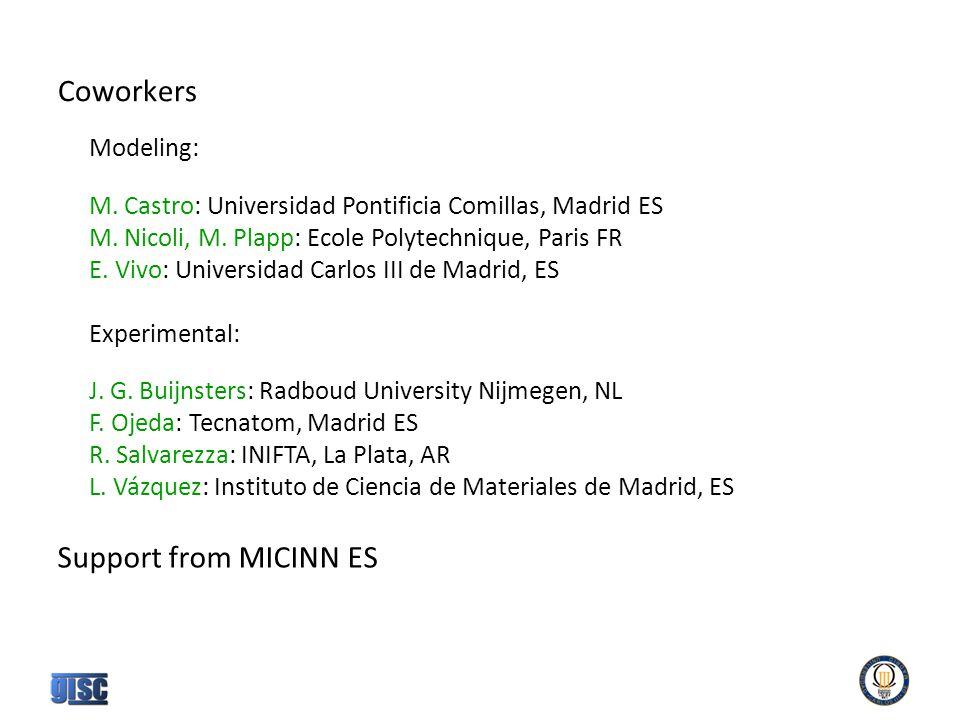 Coworkers Modeling: M. Castro: Universidad Pontificia Comillas, Madrid ES M.