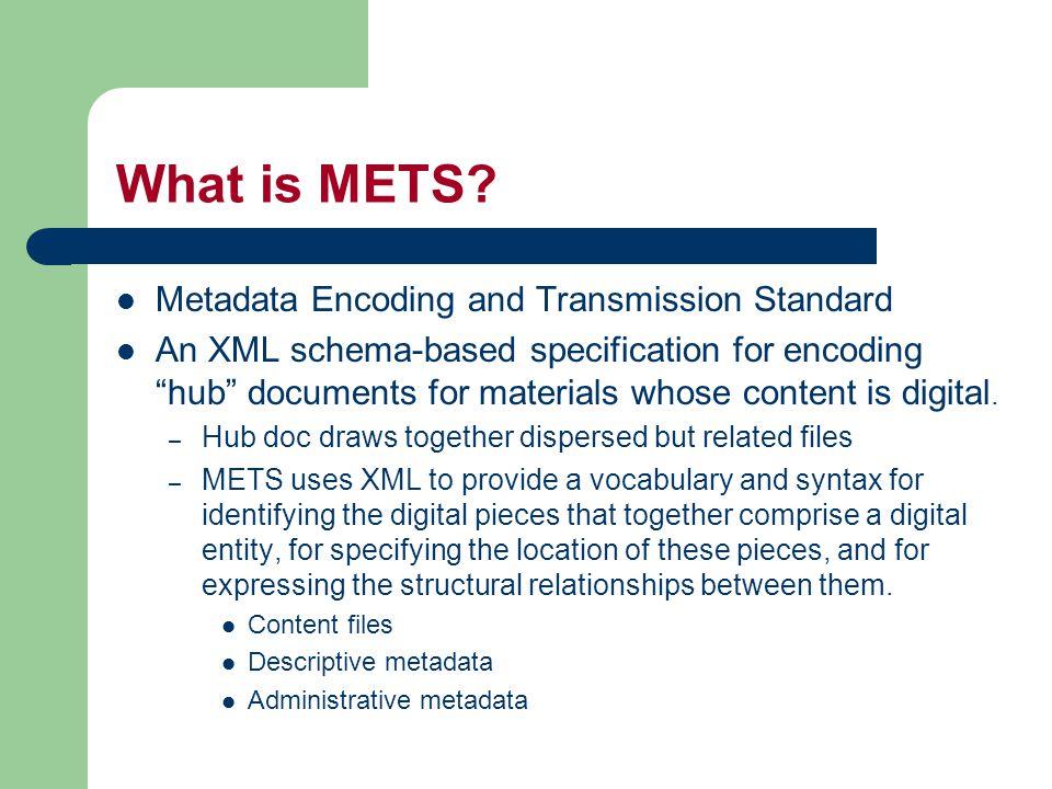 Administrative Metadata Section amdSec sourceMD digiprovMD rightsMD Administrative Md External AdminMD techMD mdRef mdWrap