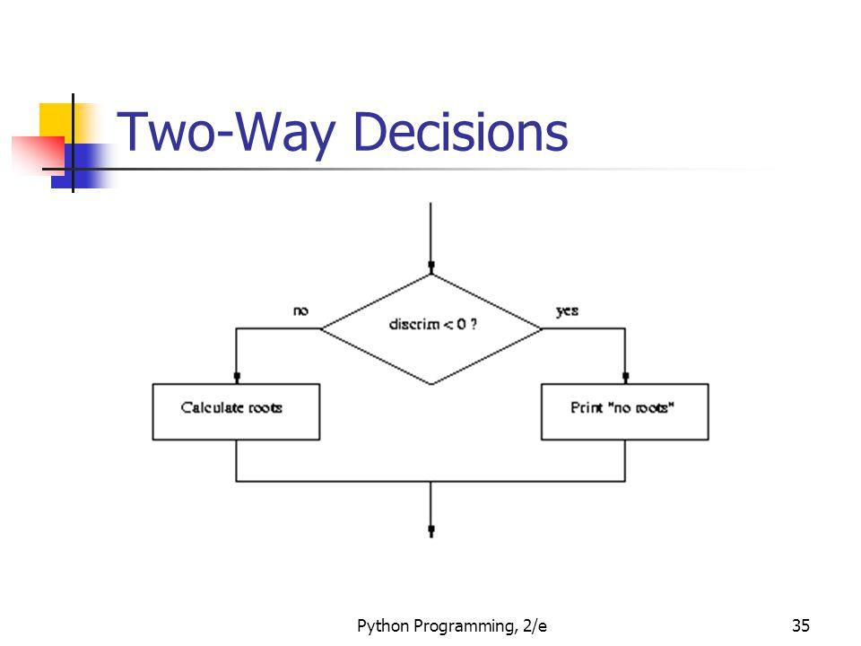 Python Programming, 2/e35 Two-Way Decisions