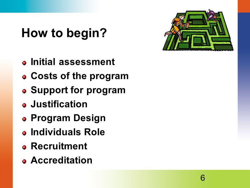 How to begin.