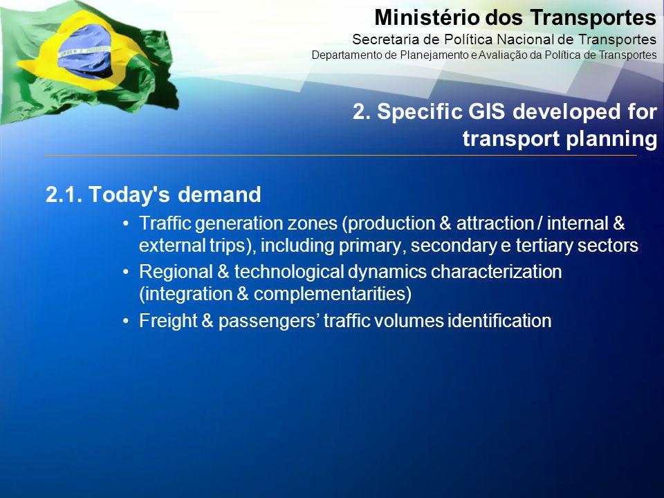 Ministério dos Transportes Secretaria de Política Nacional de Transportes Departamento de Planejamento e Avaliação da Política de Transportes 2.1.