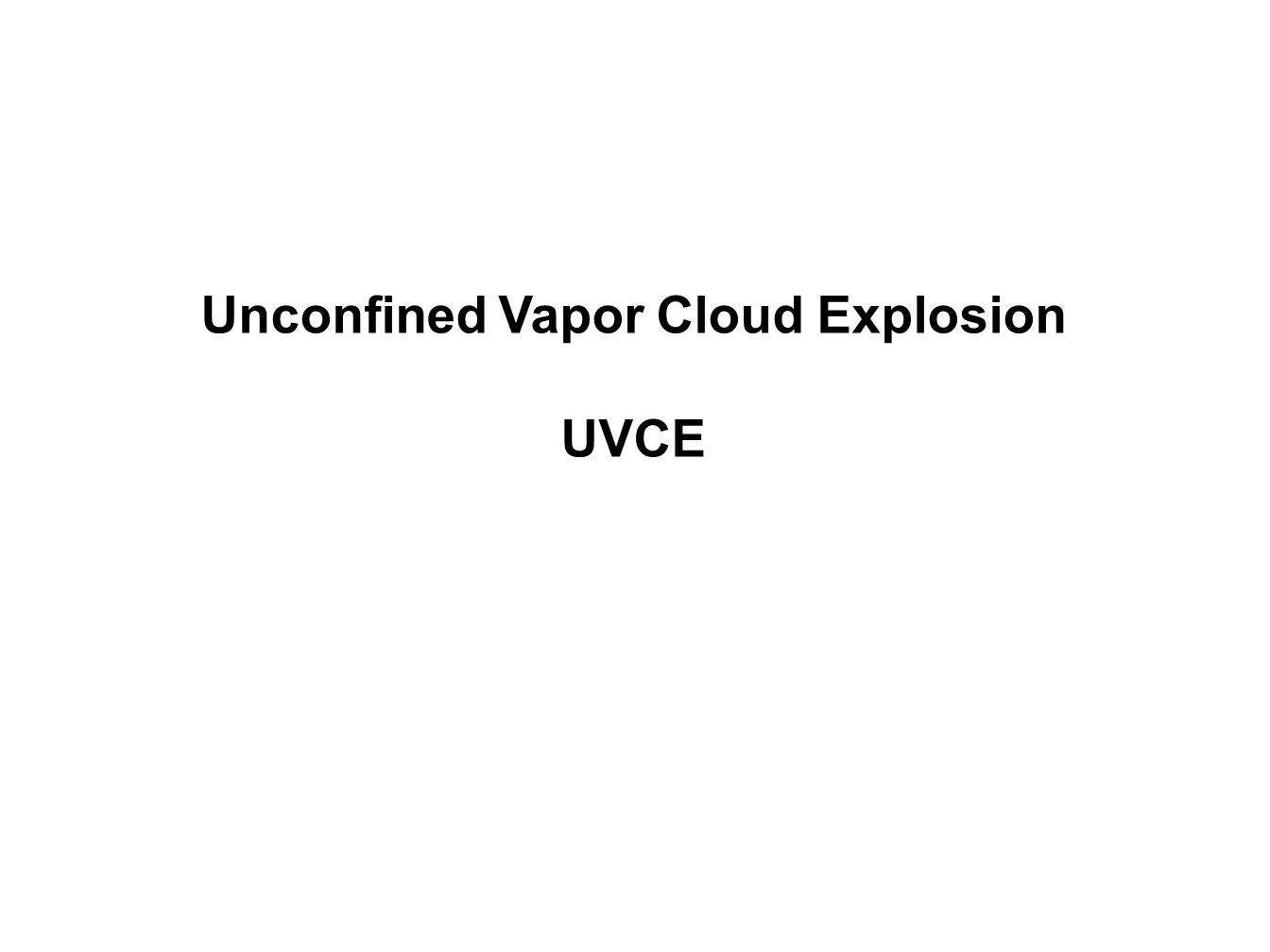 Unconfined Vapor Cloud Explosion UVCE
