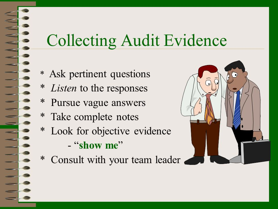Possible Contents of Audit Report Audit-related information that may be included in the audit report: *The identification of the organization audited and the client, *The agreed objectives and scope of the audit, *The agreed criteria against which the audit was conducted.