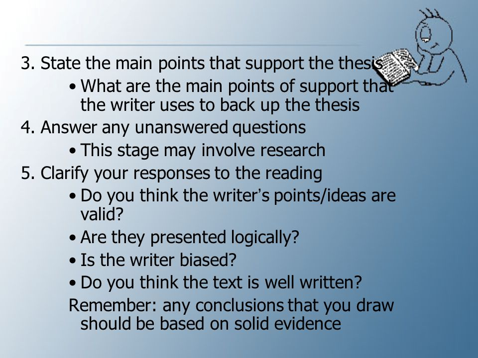characteristics of a well written thesis