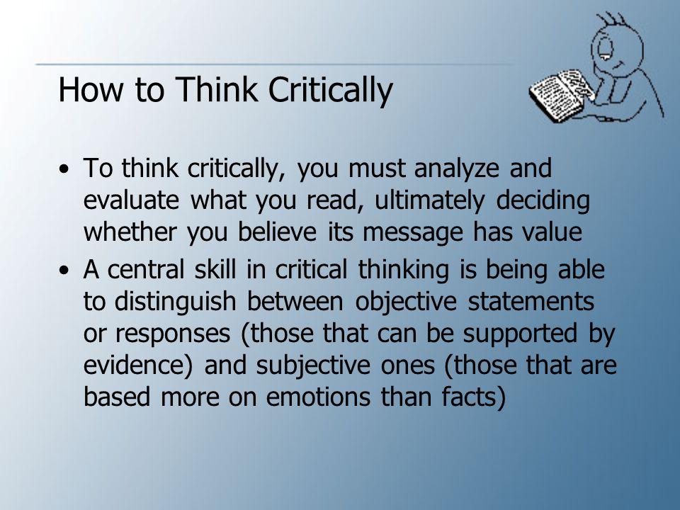 Critical Thinking Essay Writing
