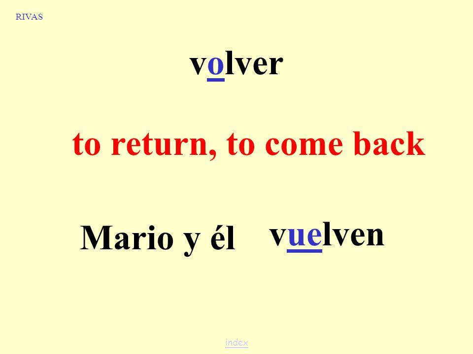 recordar to remember vosotros recordáis RIVAS index