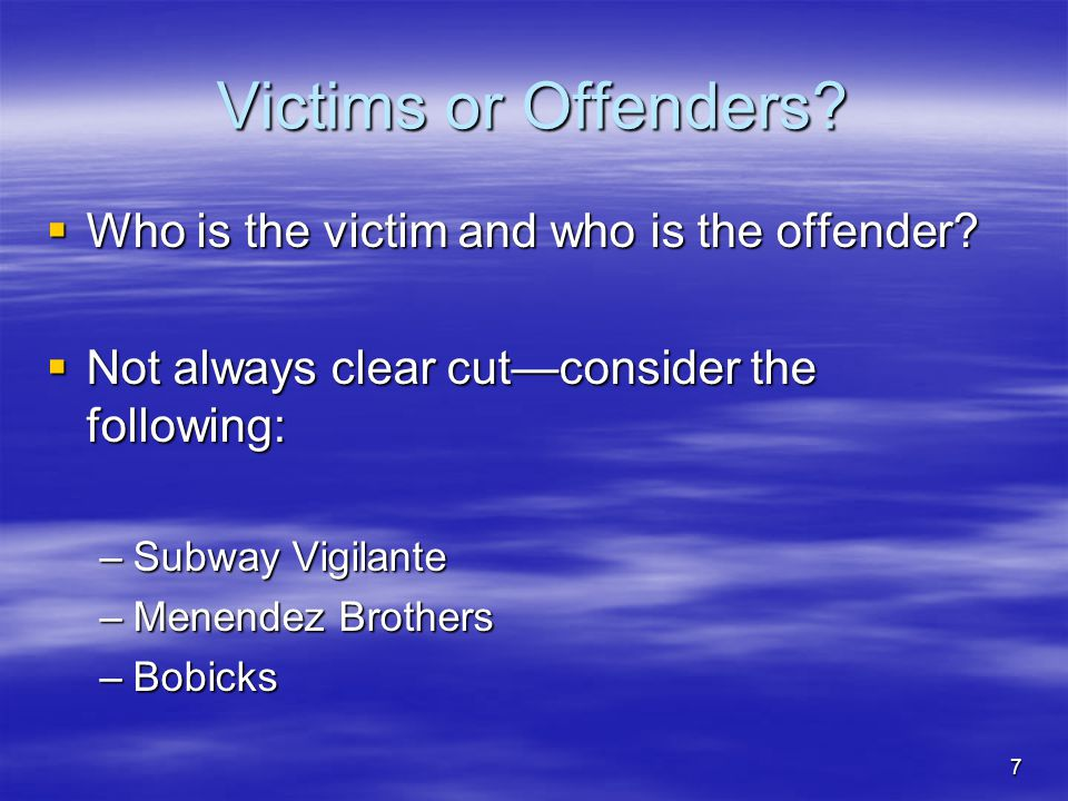 18 The Origins of Victimology  Box 1.1, Page 14, provides highlights in the brief history of Victimology and Victim Assistance  Significant gains in the United States when the President's Commission on Law Enforcement and the Administration of Justice urged criminologists to pay more attention to victims
