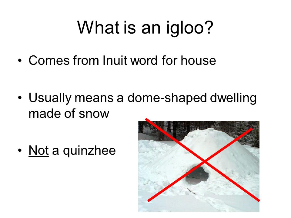 What is an igloo.