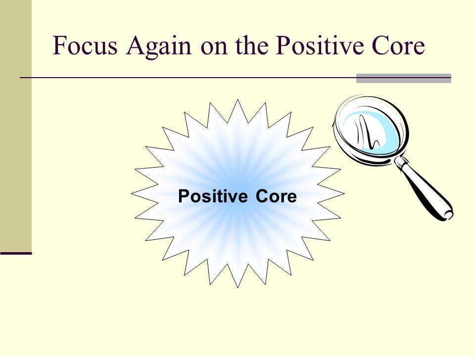 Focus Again on the Positive Core Positive Core