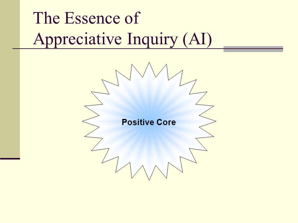 The Essence of Appreciative Inquiry (AI) Positive Core