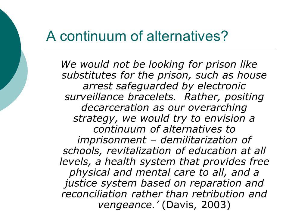 A continuum of alternatives.