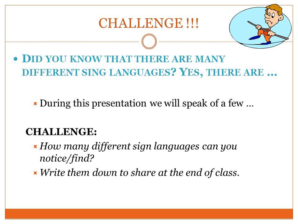 Manually coded English vs American Sign Language