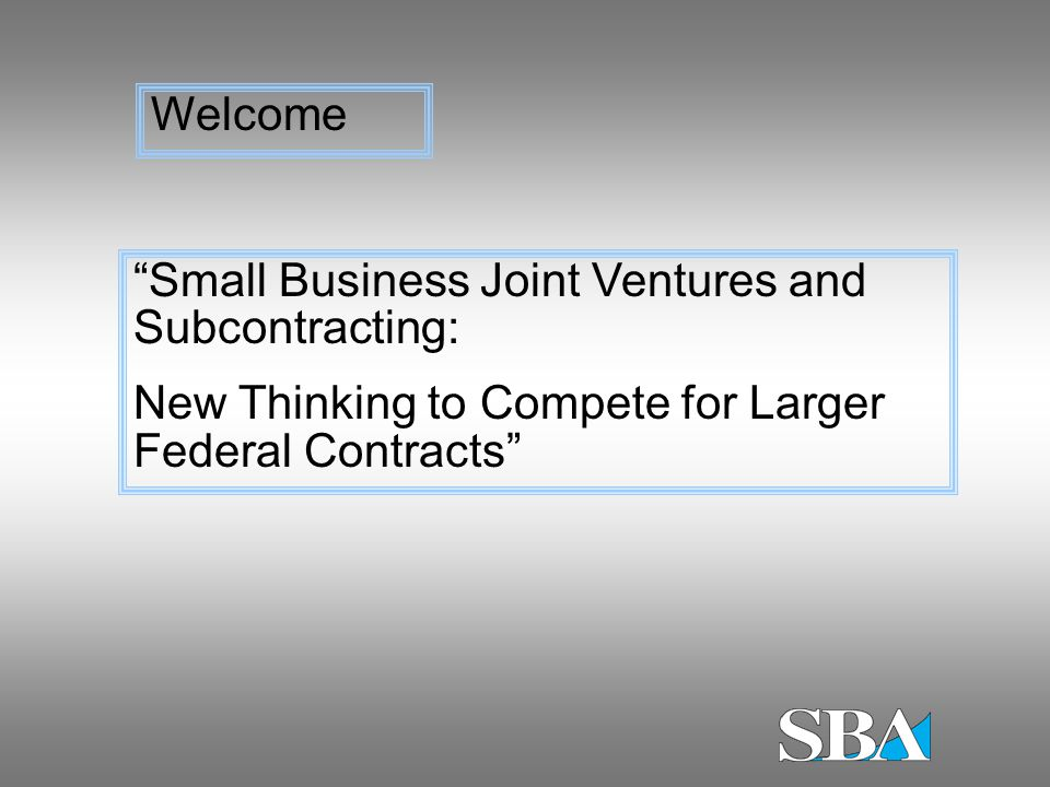 So what.Is your joint venture small for particular acquisition.
