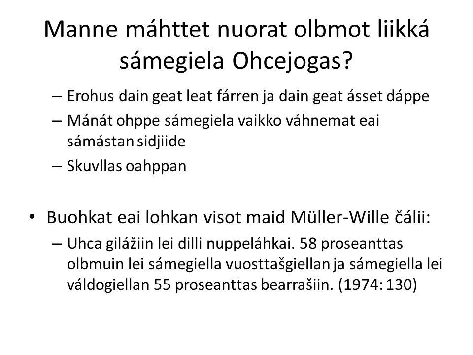 Manne máhttet nuorat olbmot liikká sámegiela Ohcejogas.
