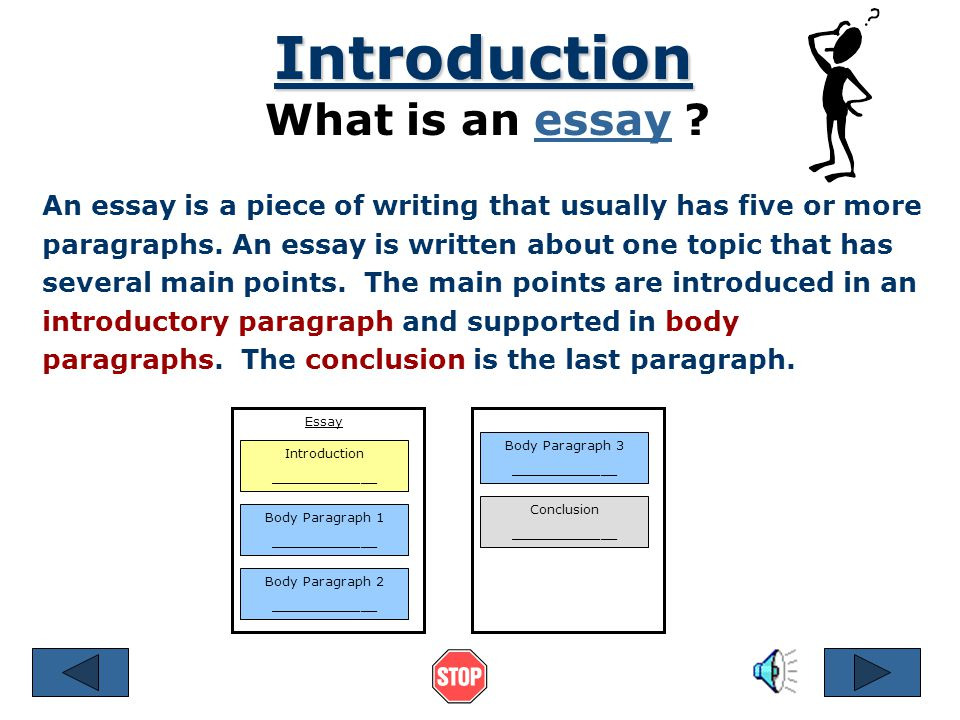Organizing an Academic Essay References © 2001 by Ruth Luman Introduction Conclusion Body Paragraphs
