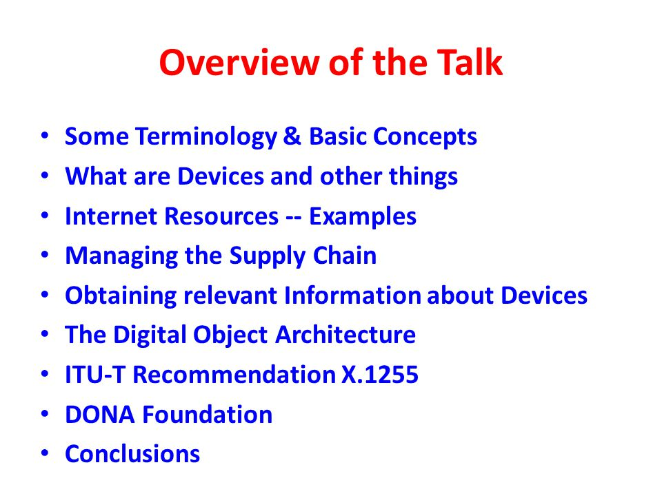 Conclusions Any approach for detecting counterfeit ICT devices will likely be applicable, at least in part, to other devices and things.