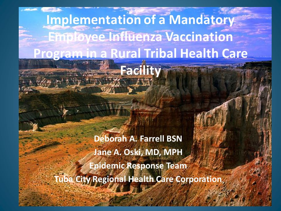 The Setting Tuba City Regional Health Care Corporation (TCRHCC) is a 55-bed tribal facility located on the Navajo Nation in northeastern Arizona.