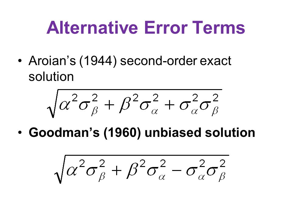 Sobel's (1982) first-order approximation The standard error is computed as  is b M.X or r M.X,   2 is its standard error  is b Y.M(X) or  Y.M(X