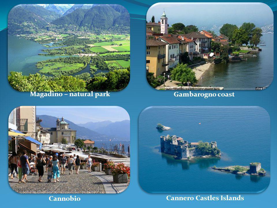 Magadino – natural park Gambarogno coast Cannobio Cannero Castles Islands