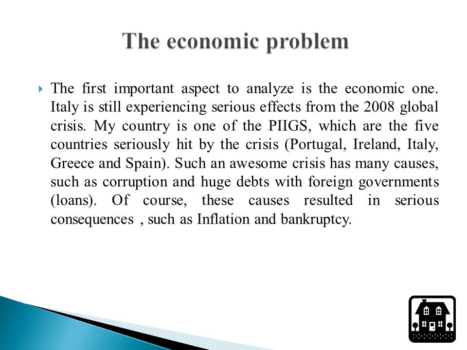  The first important aspect to analyze is the economic one.