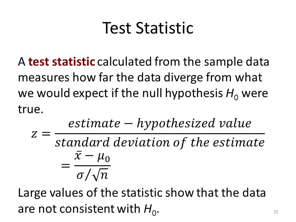 Test Statistic 35