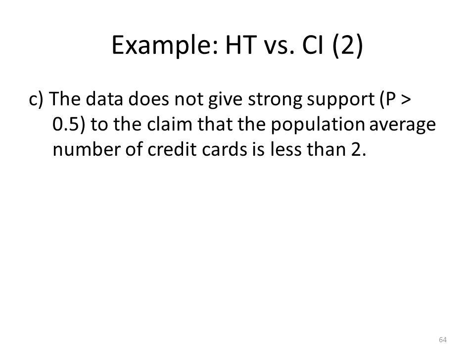 Example: HT vs.