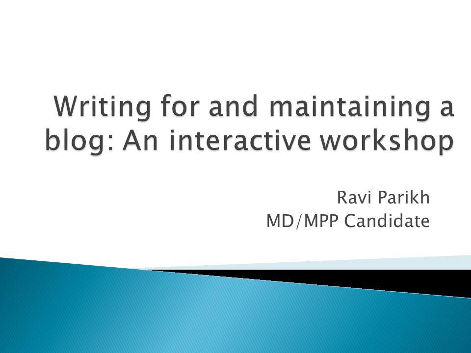 Ravi Parikh MD/MPP Candidate