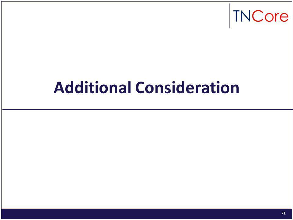 71 Additional Consideration