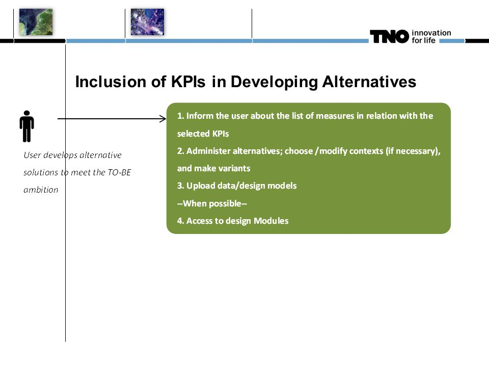 Inclusion of KPIs in Developing Alternatives