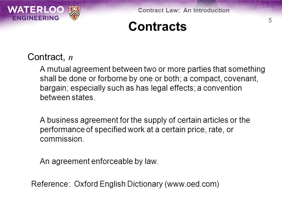 Contracts Consequently, a contract is a legally enforceable agreement –How do you differentiate between an agreement that is legally enforceable and one that is not.