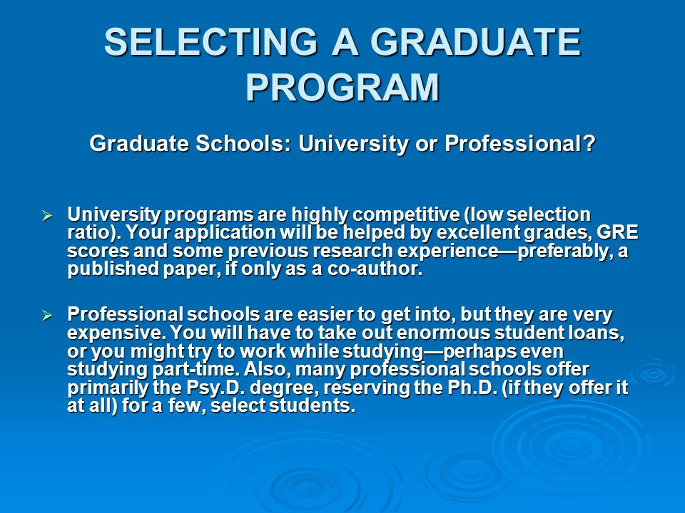 Preparing for application to postdoctoral programs Involvement in specialty organizations (e.g., APA Div 40, INS, NAN) Need to complete dissertation by start date of residency Use internship to round out general clinical competencies Neuropsychology internship is not necessary and not always helpful Plan applications with advisor or mentor