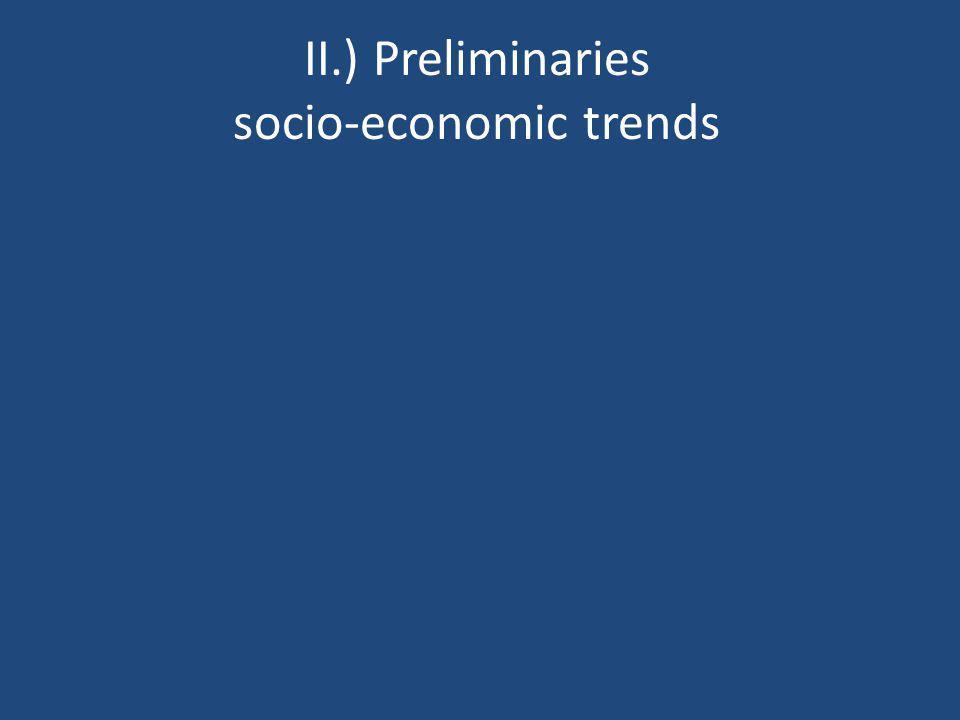 II.) Preliminaries socio-economic trends