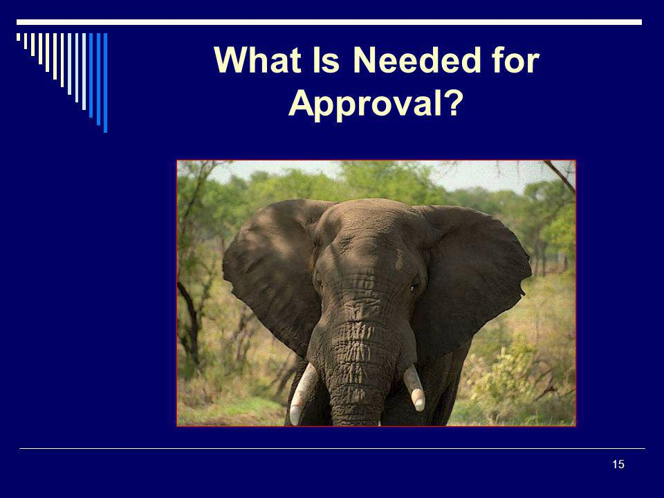 15 What Is Needed for Approval