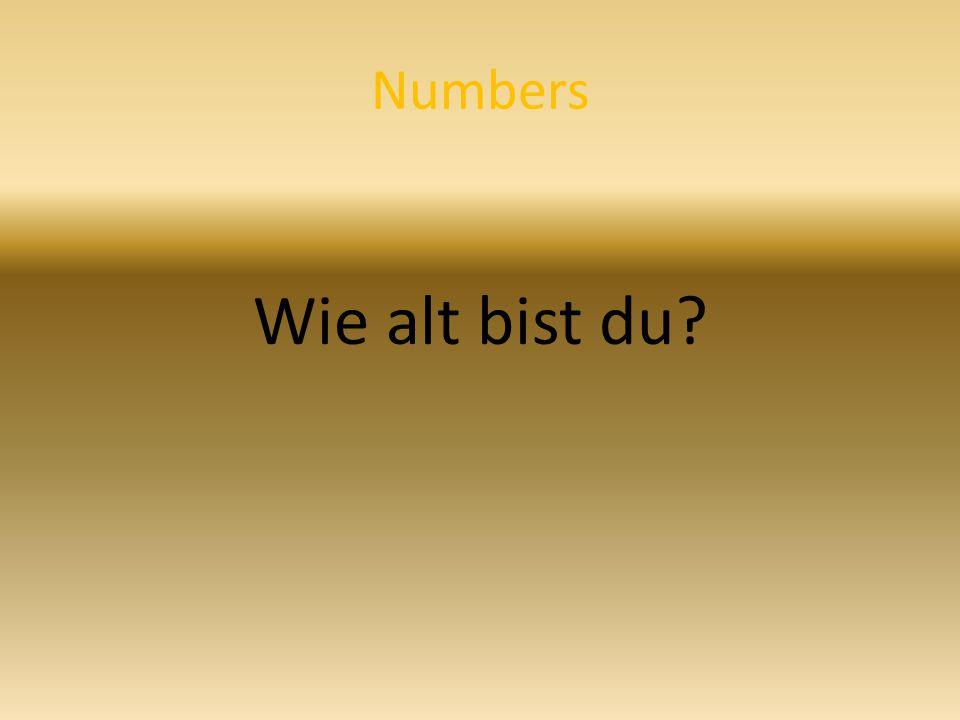 Numbers Wie alt bist du