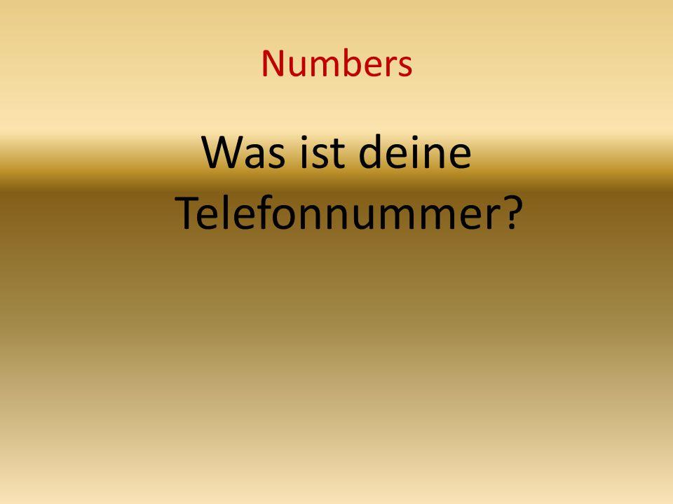 Numbers Was ist deine Telefonnummer
