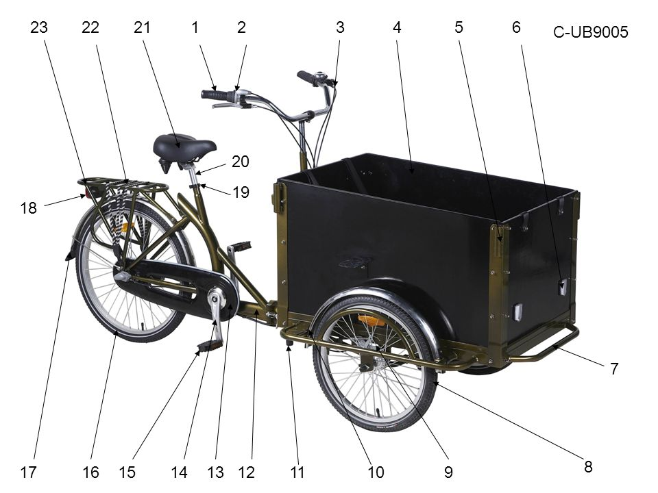 If use below handlebar Assembly the handle bar as below shown in figure 6 and figure 7, adjust the height and lock it.