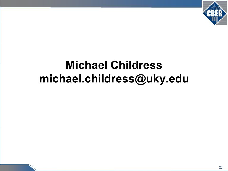 22 Michael Childress michael.childress@uky.edu