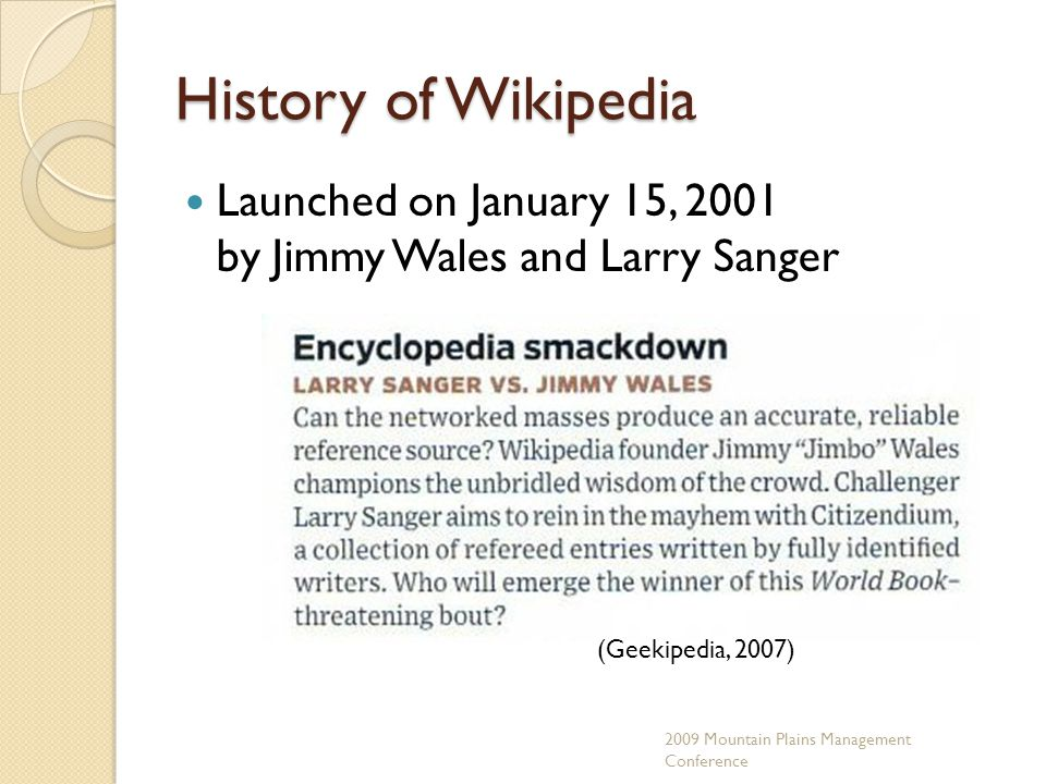 Number of Articles Source Number of Approved Articles Number of Articles in Progress Timeframe Nupedia24742000-2003 Citizendium11011,8009/2006 - present Wikipedia for Schools 55002008/09 edition Wikipedia Unknown (est.