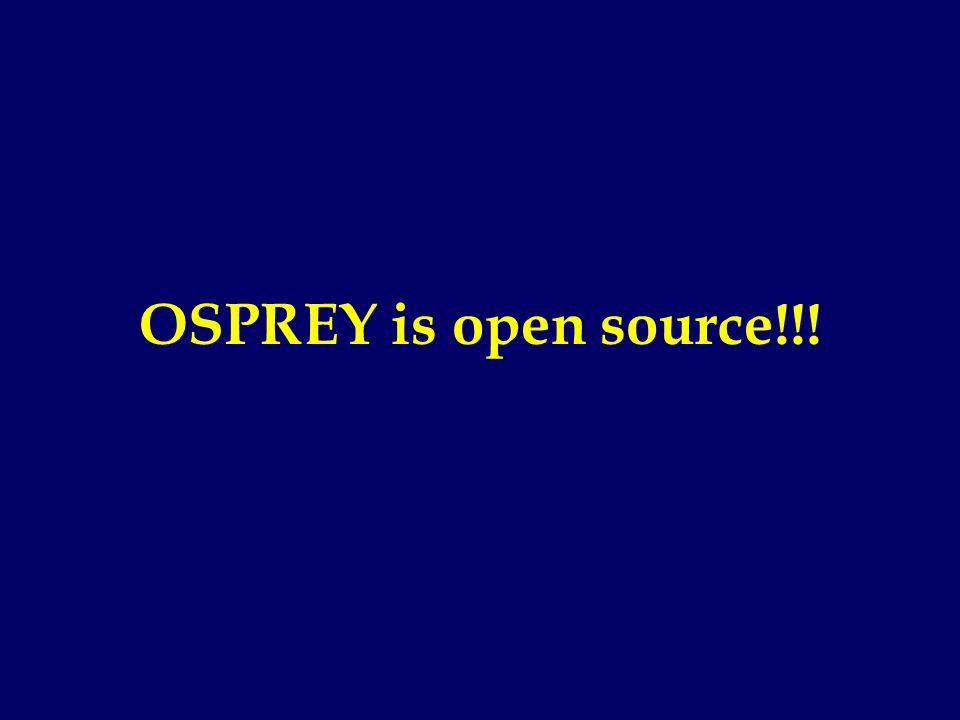 OSPREY is open source!!!